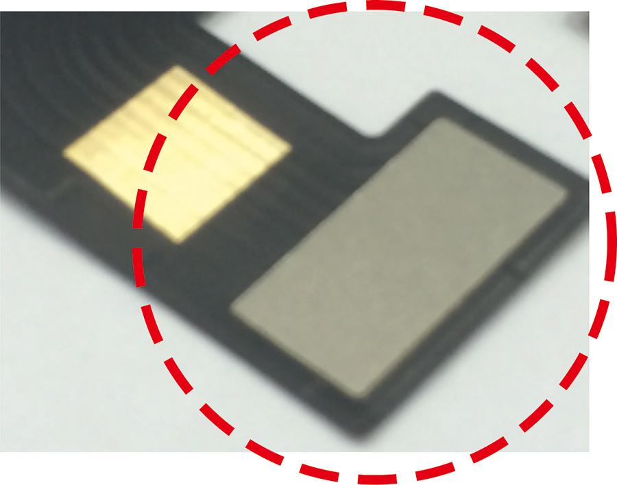 FPCの配線数が多く、カバーレイ開口を設けられない場合
